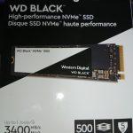 WD Black NVMe 500GB SSD(WDS500G2X0C)買いました