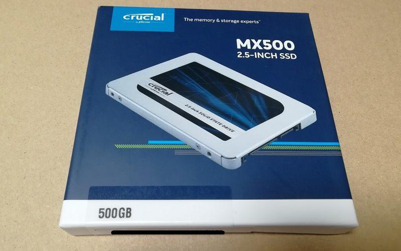 Crucial MX500の外箱