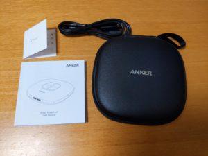 Anker PowerConfの本体と同梱物